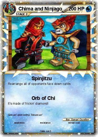 Pokémon Chima and Ninjago - Spinjitzu - My Pokemon Card