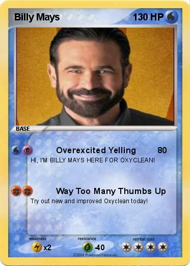 pokémon billy mays overexcited yelling my pokemon card