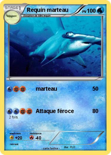Pok mon requin marteau 14 14 marteau ma carte pok mon - Pokemon baleine ...