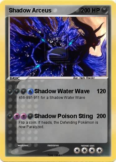 Pokémon Shadow Arceus 77 77 - Shadow Water Wave - My ...