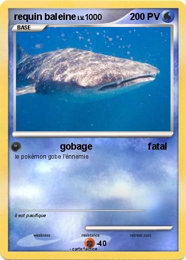 Pok mon requin baleine 4 4 gobage fatal ma carte pok mon - Pokemon baleine ...