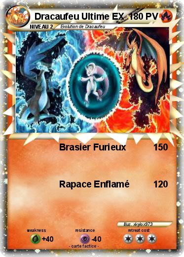 Pok mon m dracaufeu ultime brasier furieux ma carte - Pokemon dracaufeu ex ...