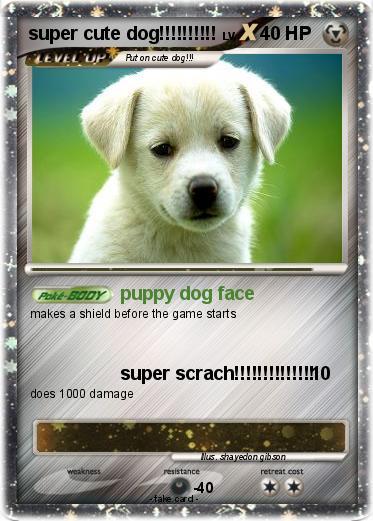 pok233mon super cute dog puppy dog face my pokemon card
