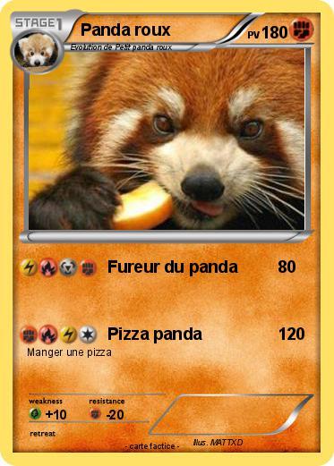 Pok mon panda roux 25 25 fureur du panda ma carte pok mon - Image de panda a imprimer ...