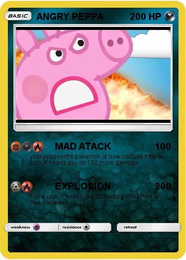 Pok 233 Mon Angry Peppa Mad Atack My Pokemon Card