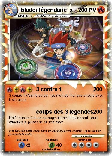 Pok mon blader legendaire x 3 contre 1 ma carte pok mon - Pokemon legendaire pokemon y ...