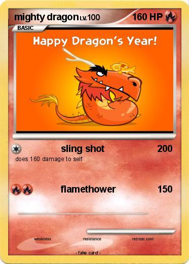 pokémon mighty dragon 13 13 sling shot my pokemon card