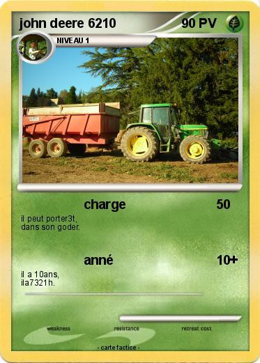 Pok mon john deere 6210 1 1 charge ma carte pok mon - Dessin anime de tracteur john deere ...
