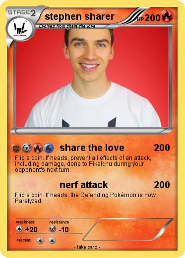 Pokémon stephen sharer - share the love - My Pokemon Card