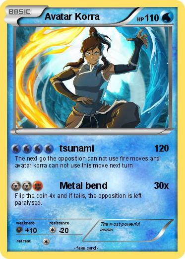 pokémon avatar korra 19 19 tsunami my pokemon card