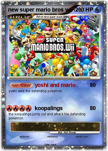 Pokémon new super mario bros wii 5 5 - yoshi and mario - My Pokemon Card