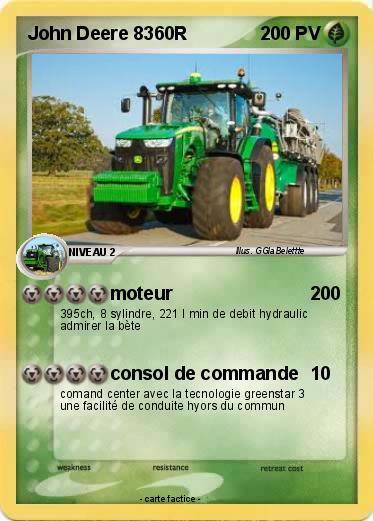 Pok mon john deere 8360r moteur ma carte pok mon - Dessin anime de tracteur john deere ...
