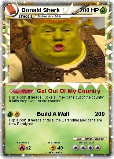 pokémon donald sherk get out of my country my pokemon card
