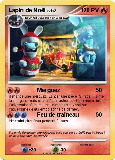 Ma Carte De Noel.Pokémon Lapin De Noel 2 2 Merguez Ma Carte Pokémon