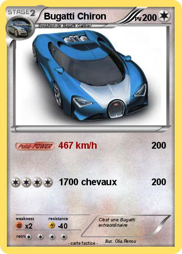 Pok mon bugatti chiron 467 km h ma carte pok mon - Coloriage de bugatti ...