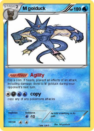 Pokémon M golduck 5 5 - Agility - My Pokemon Card  Pokémon M gold...