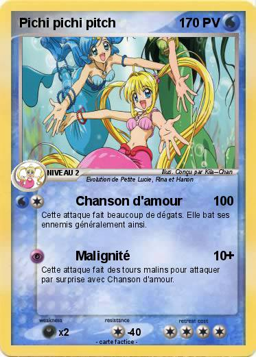Pokémon Pichi pichi pitch 14 14 - Chanson d'amour - Ma carte Pokémon