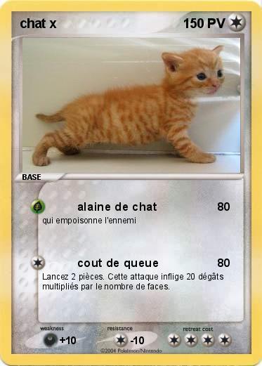 Préférence Pokémon chat x - alaine de chat - Ma carte Pokémon KD02