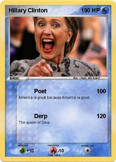 pokémon hillary clinton 136 136 poet my pokemon card