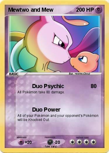 Pok 233 Mon Mewtwo And Mew 15 15 Duo Psychic My Pokemon Card
