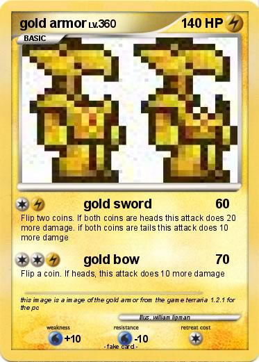 Pok 233 Mon Gold Armor Gold Sword My Pokemon Card