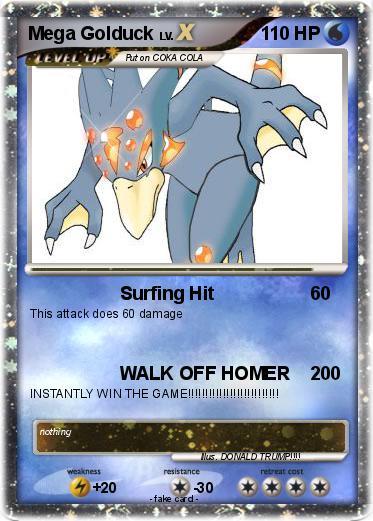 Pokémon Mega Golduck 1 1 - Surfing Hit - My Pokemon Card  Pokémon Mega G...