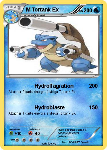 Pok mon m tortank ex 1 1 hydroflagration ma carte pok mon - Tortank pokemon y ...