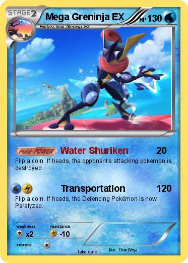 pokémon mega greninja ex 4 4 water shuriken my pokemon card