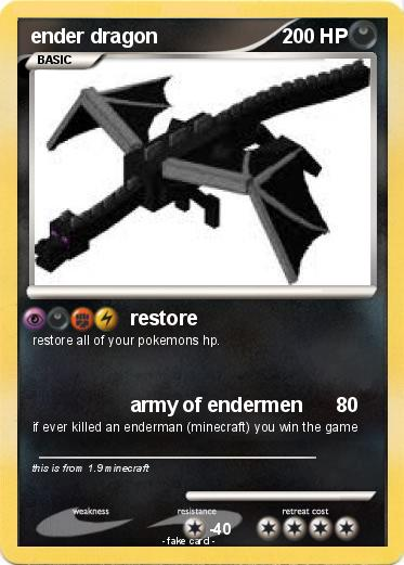 Ender Dragon Pokemon Card