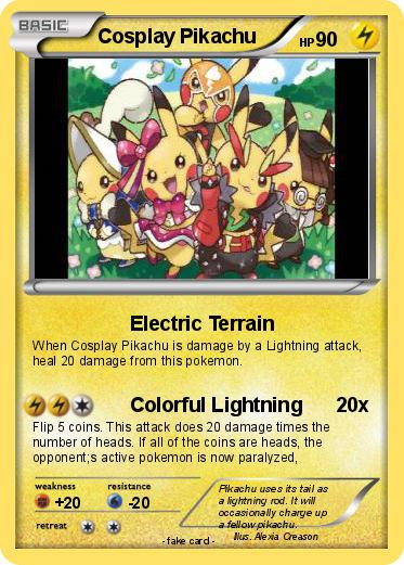 Pokemon Cosplay Pikachu 3 3 Electric Terrain My Pokemon Card