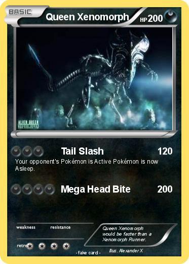 Pokémon Queen Xenomorph 6 6 - Tail Slash - My Pokemon Card