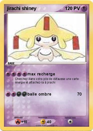 Pok mon jirachi shiney max recherge ma carte pok mon - Carte pokemon jirachi ...