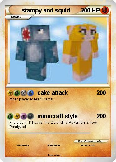 Pok 233 Mon Stampy And Squid 7 7 Cake Attack My Pokemon Card