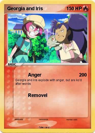 Pokmon georgia and iris anger my pokemon card pokemon georgia and iris altavistaventures Images