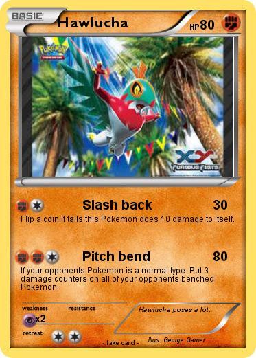 Pokémon Hawlucha 101 101 Slash Back My Pokemon Card