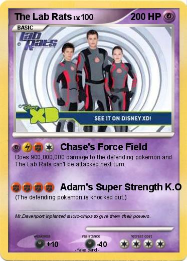 Pokmon The Lab Rats Chases Force Field My Pokemon Card