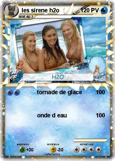 Pok mon les sirene h2o tornade de glace ma carte pok mon - Image de sirene h2o ...