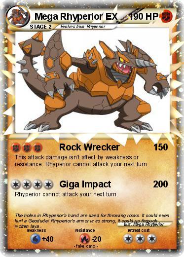 Pokemon Mega Rhyperior EX
