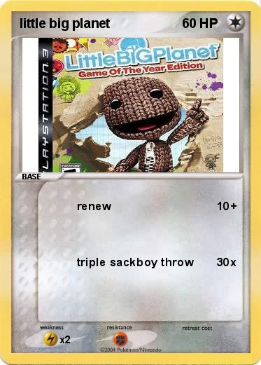 Pokémon Little Big Planet Renew My Pokemon Card Coloring Page Big Planet