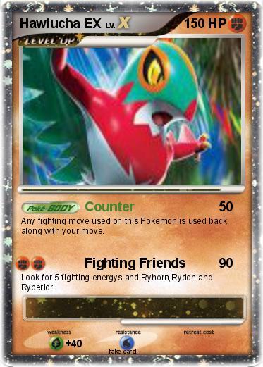 Pokémon Hawlucha Ex 2 2 Counter My Pokemon Card