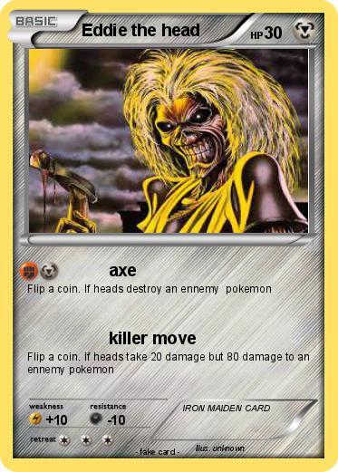 Pokmon Eddie The Head 4 4 Axe My Pokemon Card