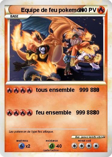 Pok mon equipe de feu pokemon tous ensemble 999 888 ma - Pierre feu pokemon noir ...