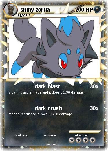 Pokémon shiny zorua - dark blast - My Pokemon Card  Shiny Zoroark Card