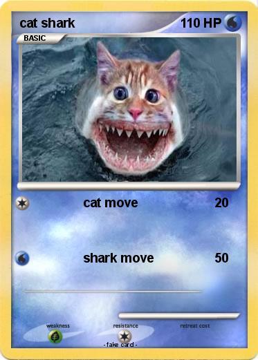 Pok 233 Mon Cat Shark 16 16 Cat Move My Pokemon Card