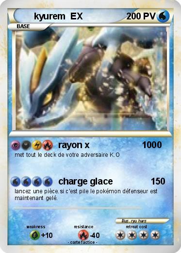 Pok mon kyurem ex 50 50 rayon x 1000 ma carte pok mon - Carte pokemon a imprimer gratuitement ex ...