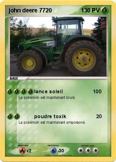 Pok mon john deere 7720 7720 lance soleil 100 ma carte - Dessin anime de tracteur john deere ...