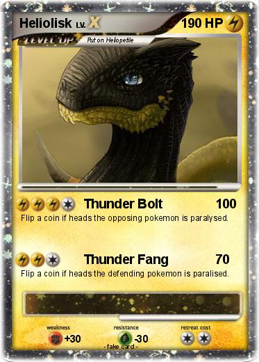 Pokémon Heliolisk 8 8 - Thunder Bolt - My Pokemon Card