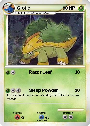 Pokémon Grotle 51 51 Razor Leaf My Pokemon Card