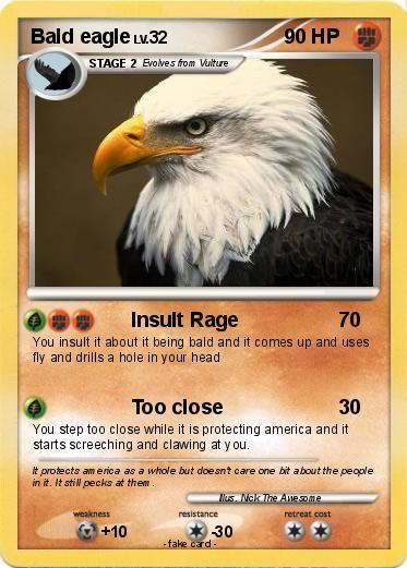 Pokémon Bald eagle 6 6 - Insult Rage - My Pokemon Card