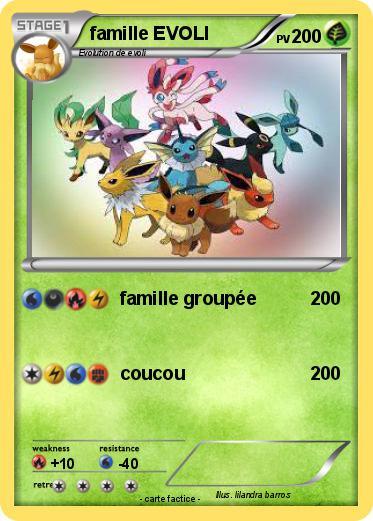 Pok mon famille evoli 54 54 famille group e ma carte pok mon - Famille evoli pokemon ...